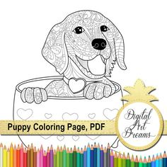 puppy coloring page golden retriever printable pages coloring pages for adults pdf dog pictures to print coloring book outlines