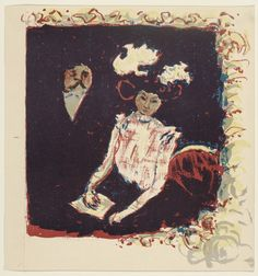 litho. Pierre Bonnard. The Loge. (1898)