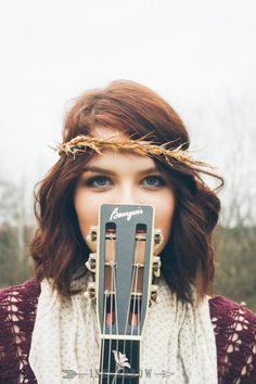 Bohemian style senior session... With a guitar <3   Image by Ink & Arrow Photo