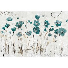 Red Barrel Studio® Abstract Balance Blue Painting Print on Wrapped Canvas