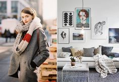 Moda + Décor | Mix de texturas. Confira: http://casadevalentina.com.br/blog/detalhes/moda-+-decor--mix-de-texturas-3218  #decor #decoracao #interior #design #casa #home #house #idea #ideia #detalhes #details #estilo #casadevalentina #fashion #moda