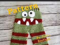 Hey, I found this really awesome Etsy listing at https://www.etsy.com/listing/244757407/pattern-crochet-monster-baby-pants