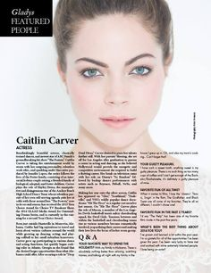 caitlin carver interview gladys magazine 2014 holiday inspirational issue