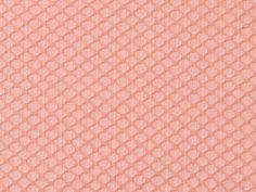 Tissu Jacquard Losange Aspect Broderie Pêche en vente sur TheSweetMercerie.com