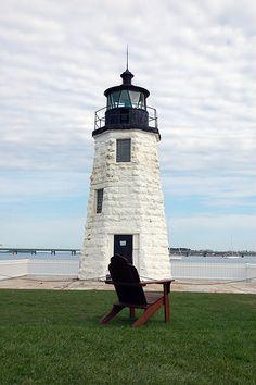 Goat Island Light, Newport, Rhode Island