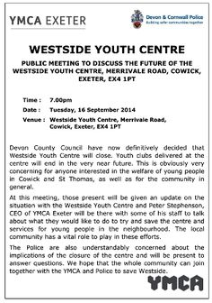 http://www.cartridgeslaw.co.uk/latest-news/meeting-to-discuss-future-of-the-westside-centre-16th-september-at-7pm