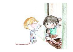 Cute Couple Drawings, Cute Drawings, Drawing Sketches, Totoro, Love Cartoon Couple, Let's Make Art, Cute Illustration, Drawing People, Nursery Art