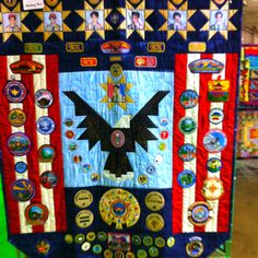 Quilt made using all this eagle scout's uniform badges and merit badges. Spotted at the Ventura County Fair. Scout Mom, Boy Scout Troop, Cub Scouts, Eagle Scout Badge, Cub Scout Badges, Eagle Scout Ceremony, Boy Scout Patches, Arrow Of Lights, Scout Uniform
