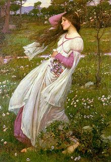 John William Waterhouse 'Windflower' (aka Windswept) 1902