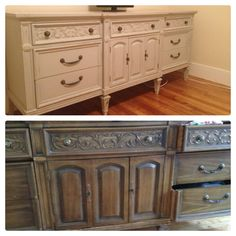 Dresser redone in a soft gray with original hardwear.