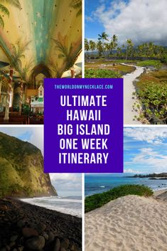 If you are planning a trip to Hawaii and aren't sure which island to visit - then let me highly recommend the Big Island. Home to beautiful beaches, scenic drives, active volcanoes, and lush valleys - the Big Island has all you could ask for in a vacation destination and more. Check out my comprehensive one week guide to the Big Island to get a jumpstart on your Hawaii trip planning. | The World on my Necklace #hawaii #bigisland #itinerary Hawaii Vacation, Hawaii Travel, Travel Usa, Hawaii Usa, Amazing Destinations, Vacation Destinations, Hawaii Volcanoes National Park, Thing 1, United States Travel