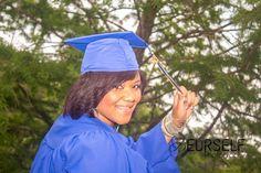 Cap & gown graduate senior session
