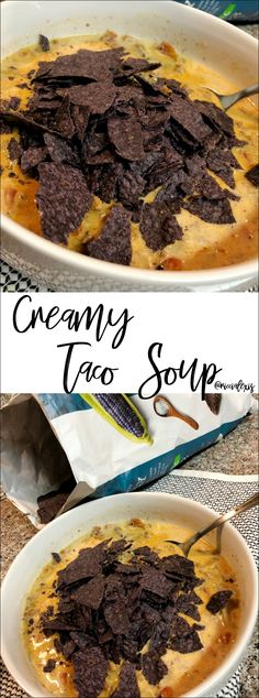 Creamy Taco Soup...it's really good! Promise!! #CreamyTacoSoup #TacoSoup