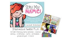 Engaging and hands-on name activities perfect for the first few weeks of school!