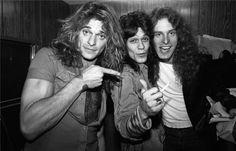 Could it possibly be the 3 stooges of Rock 'n' Roll? David Lee Roth, Eddie Van Halen, & Ted Nugent? haha ;)
