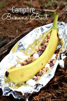 Campfire Banana Boat that you will not regret eating!! AMAZING!! click above for recipe