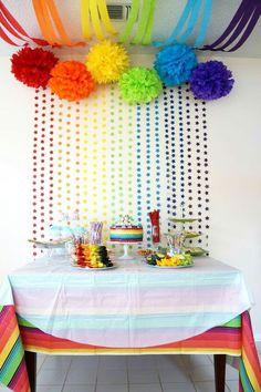 Idéia de mesa arco-íris