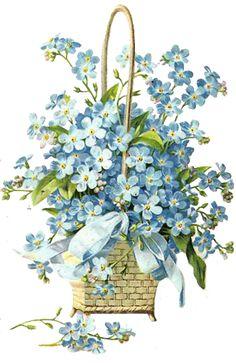 Glanzbilder - Victorian Die Cut - Victorian Scrap - Tube Victorienne - Glansbilleder - Plaatjes : Blumenkörbe I - flower basket I - paniers de fleurs