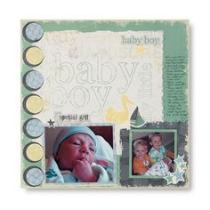 Rugged Baby Boy Arrival Additions Scrapbook Layout