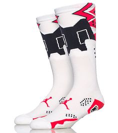 JORDAN Sneaker style socks Stretch fabric for comfort Moisture resistant cotton Infrared neon abstract design