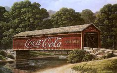 Image detail for -Coca cola sign - Davis Sign Country Life, Country Roads, Old Bridges, New England States, Old Barns, Old Buildings, Covered Bridges, Architecture, Construction