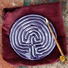 Classical Tracing Labyrinth with velvet sack and tracing stick-Dark Purple Grape $15.75