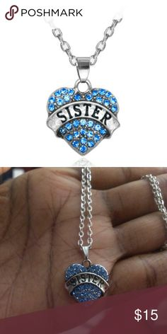 New Sister Rhinestone Bling Necklace This necklace is brand new.  My home is smoke-free and pet-free.  Check out the other items in my closet and bundle for your discount.  I consider all offers.  Happy POSHING! Jewelry Necklaces