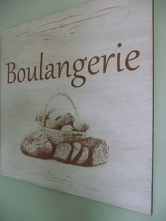 Personalised French Boulangerie Wall Sign Shabby Chic by Crafu