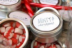 Homemade candy cane altoids