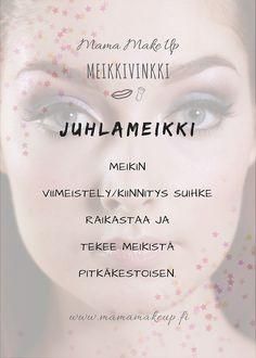 Meikin viimeistelysuihke Make Up, Personal Care, Eyes, Beauty, Self Care, Personal Hygiene, Makeup, Beauty Makeup, Beauty Illustration