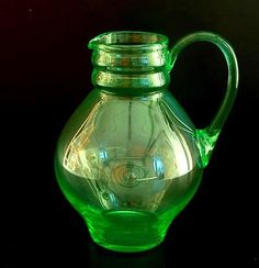 Botterweg Auctions Amsterdam > Annagroen glazen waterkan, ontwerp A.D.Copier 1923, uitvoering Glasfabriek Leerdam