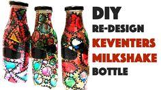 Redesign your Keventers Milkshake Bottle   DIY Glass Painting