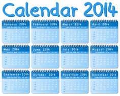 2014 Yearly Calendar with Holidays | Download Wide Screen Calendars 2014: