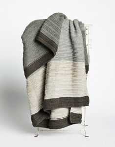 Aiayu handknit llama wool throw | Remodelista
