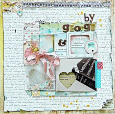 Ideas for Peek-a-Boo Elements on Layered Scrapbook Layouts  | Sian Fair | Get It Scrapped