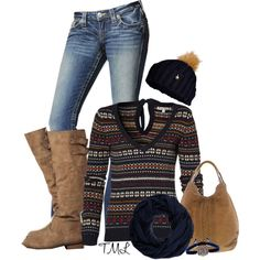 """""""Print Sweater"""" by tmlstyle on Polyvore"""