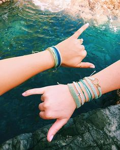 Every bracelet is 100% waterproof. Go surf, snowboard, or even take a shower with them on. Wearing your bracelets every...