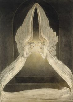 William Blake | The Angels Hovering over The Body of Christ in the Sepulchre, 1805