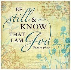 Stillness before God
