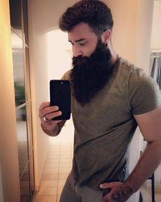 Awesome long black beard selfie by a young man Badass Beard, Epic Beard, Sexy Beard, Full Beard, Long Beard Styles, Hair And Beard Styles, Great Beards, Awesome Beards, Beard Shampoo