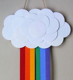 Para alegrar a sua casa! #arcoirir #papel #decoração
