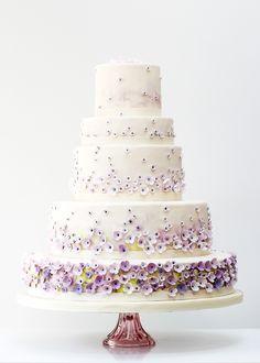 Monet's Garden Wedding Cake by Rosalind Miller Cakes for Harrods - London
