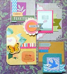 Having fun in my craft room... making ng randim embellishments out of scraps of paper and saved bits and pieces. Man I really can't get rid of anything. Made by marymishmash