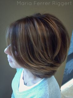 Maria Ferrer Riggert . Master Hair Stylist . dimensional color . alternative balayage technique . honey highlights . natural results