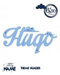 Prénom personnalisé Hugo thème Nuage