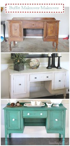 @Mayra Frank Frank Marshall  buffet transformation with Annie Sloan Florence paint-a few ideas of what color would look like on that piece you bought.