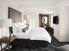 The Look: The lobby's Art Deco-inspired black-and-gray palette is echoed in generously sized guest rooms with Duxiana beds and oversized bathrooms. This is an excellent find in a city notorious for cramped quarters.