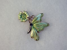 Green butterfly - missing his jewel eye :*(
