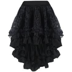 Women's Gothic Steampunk Costume Vintage Multi Layered Chiffon Skirt (20 CAD) ❤ liked on Polyvore featuring costumes, womens halloween costumes, womens costumes, steampunk lady costume, vintage halloween costumes and steampunk costume