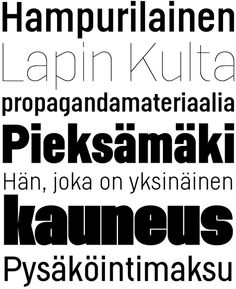 Helsinki typeface by Ludwig Übele. Derived from Finnish traffic signs.